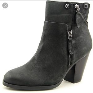 Vince Camuto Hinnegan Black Leather Booties 7.5